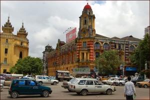 YANGON koloniaal gebouw