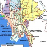 Mrauk U, landkaart, map