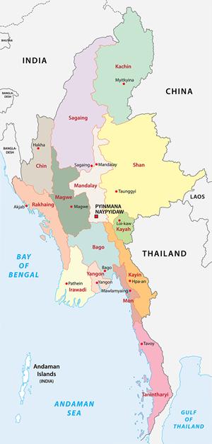 landkaart-myanmar