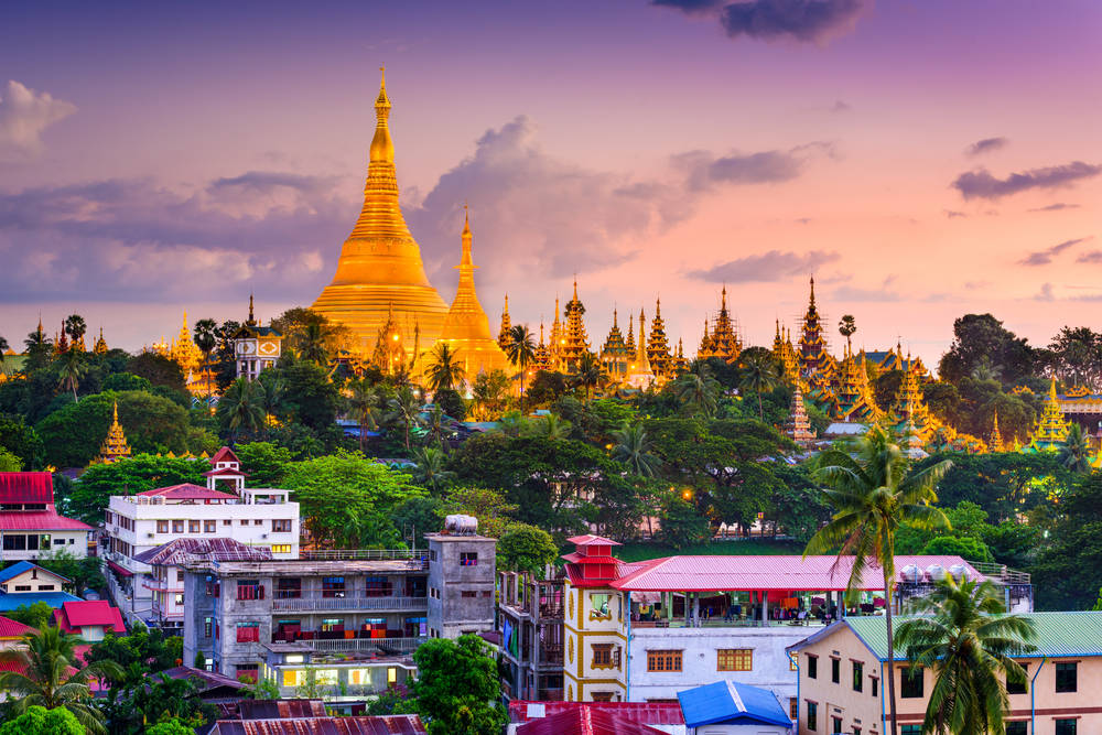 Shwedagon pagoda hoogste bezienswaardigheid myanmar