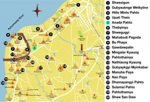 Ananda Pahto-tempel-routekaart