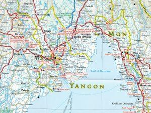 landkaart Birma